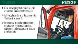 Transportation of Dangerous Goods (TDG) Online eLearning Course Trailer Preview
